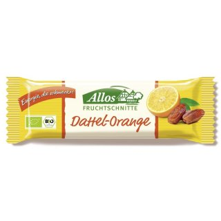 ALLOS Fruchtschnitte Dattel Orange 30g